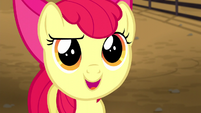 Apple Bloom asks Applejack about the rodeo S5E6