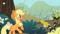 Applejack getting attacked by corn S2E01.png