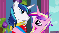 Cadance and Shining Armor gaze S02E26
