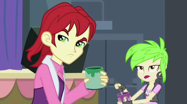 File:Canterlot High students glaring at Sunset EG2.png