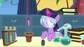 Filly Twilight Sparkle growing a flower S7E1.png