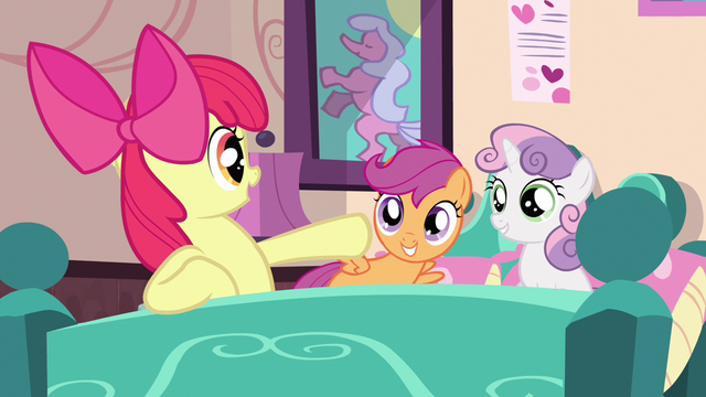 File:Scootaloo & Sweetie Belle liking idea S3E4.png