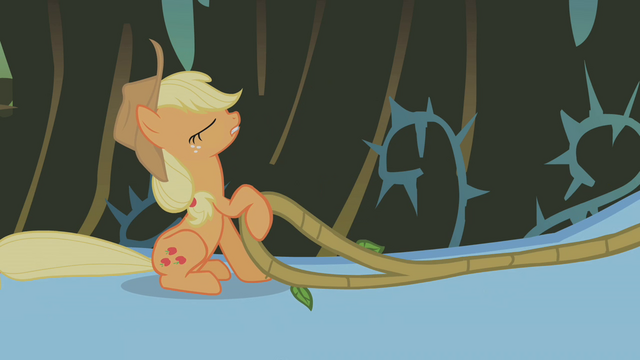 File:Applejack riding Rainbow Dash S01E09.png