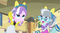 Diamond Tiara and Silver Spoon in cafeteria EG
