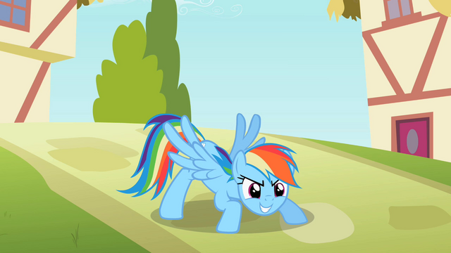 File:Rainbow Dash striking a pose S2E08.png