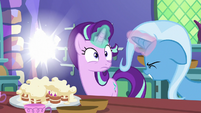 Trixie casts transfiguration on Starlight's pastry bag S7E2