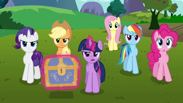 "File:Twilight and her friends ""time to get started"" S03E10.png"
