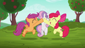 Cutie Mark Crusaders hopeful high-hoof S6E14.png