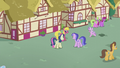 Diamond gallops through Ponyville thoroughfare S5E18.png
