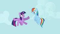 Rainbow Dash giving flying advice S4E01