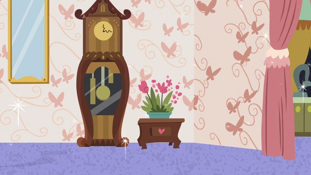 File:Clock, flowers, and butterfly wallpaper S7E12.png
