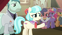 Coco Pommel giving a speech S5E16