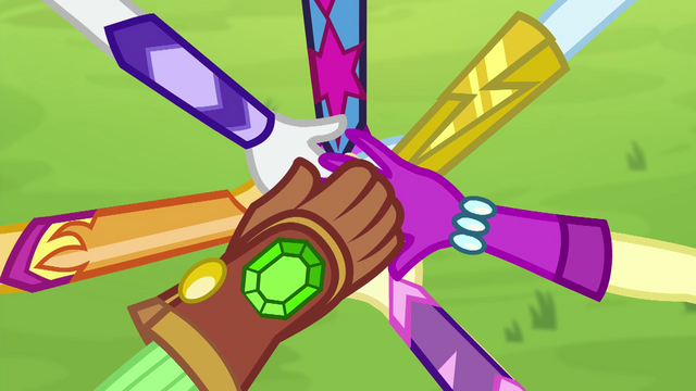 File:Equestria Girls stack their hands on top of each other EG4.png