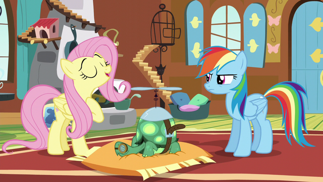 "File:Fluttershy ""just like sleeping is healthy for us"" S5E5.png"