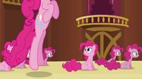 Pinkie Pie clone watching Pinkie clone bounce S3E3