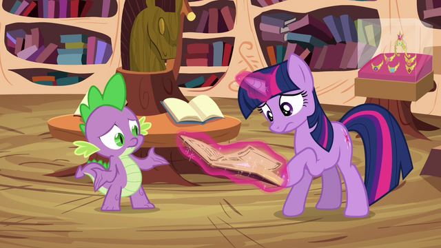 "File:Twilight and Spike ""just cast a counter spell"" S03E13.png"