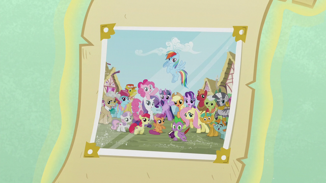 File:Photograph with Ponyville citizens S7 opening.png
