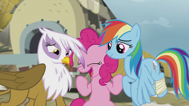 "File:Pinkie Pie in tears ""hugging now!"" S5E8.png"