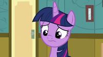 Twilight Sparkle looking remorseful S7E3