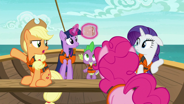 "File:Applejack ""what in the hay does that have to do"" S6E22.png"