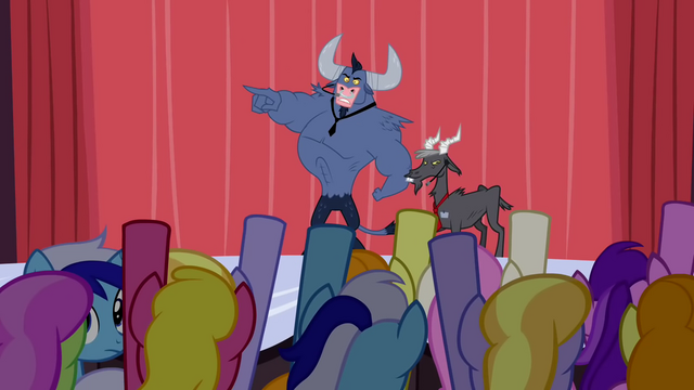 File:Iron Will pointing to crowd S2E19.png