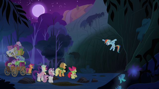 File:Rainbow Dash in front of the cave S3E06.png