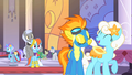 Spitfire talking to a pony S1E26.png