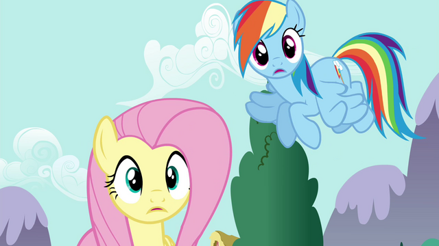 File:Fluttershy and Rainbow hears Discord S4E26.png