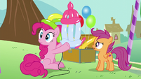 Pinkie Pie made a balloon baby bottle S5E19