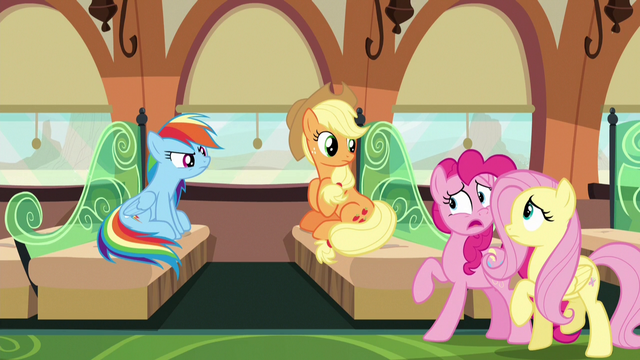 File:Pinkie tries to tell Rainbow and Applejack the truth S6E18.png