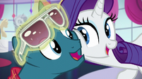 Rarity and Fashion Plate in unison S5E14