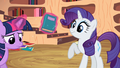 Rarity book surprise S2E10.png