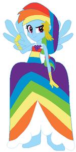 FANMADE Rainbow Dash Human Gala