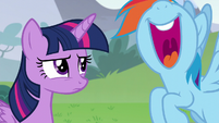 Rainbow Dash laughing loudly S5E22