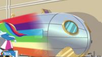 Rainbow Dash speeds past Chestnut's trailer EGS2