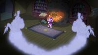 The smoke-like windigos reenters the cauldron S06E08