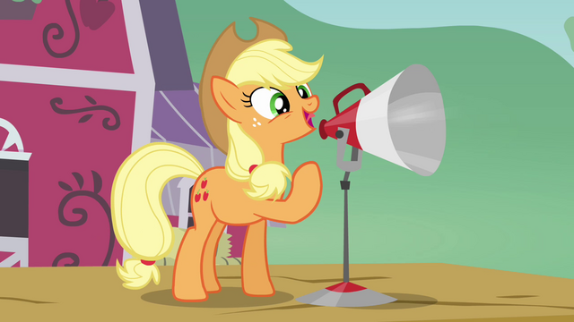 File:Applejack 'real big day planned for ya!' S3E08.png