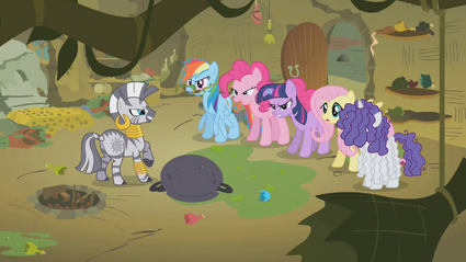 Main Six Confronting Zecora S1E09.png