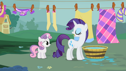 """Rarity """"Stay out of trouble"""" S2E05"""