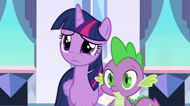 File:Twilight and Spike listen to Princess Celestia EG.png