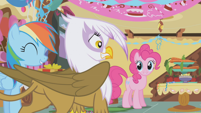 File:Pinkie offers treats to Gilda S1E05.png