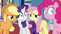 Applejack, Rarity, Fluttershy and Pinkie S2E25.png