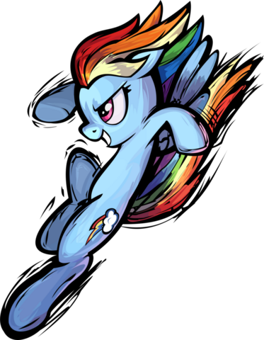 File:FANMADE Rainbow Dash Fighting with Colourful Background.png