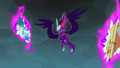 Midnight Sparkle in between Cloudsdale and Dodge Junction rifts EG3.png