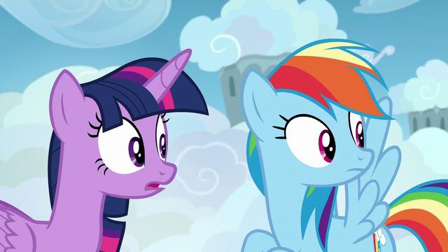 File:Twilight and Rainbow Dash hear Sky Stinger S6E24.png