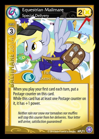 File:Equestrian Mailmare, Special Delivery card MLP CCG.png