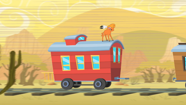 File:Little Strongheart On Top of Caboose S1E21.png