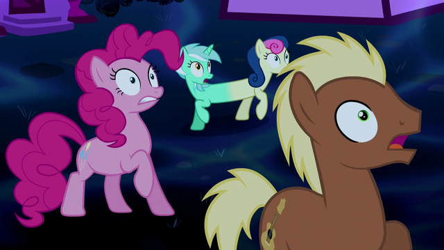 File:Pinkie Pie and ponies in shock S5E13.png
