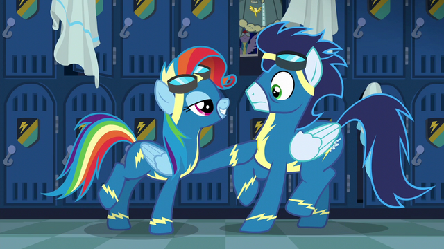 "File:Rainbow Dash ""bold lines and classic contours"" S6E7.png"