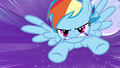 Rainbow Dash rushes at cloud S4E01.png